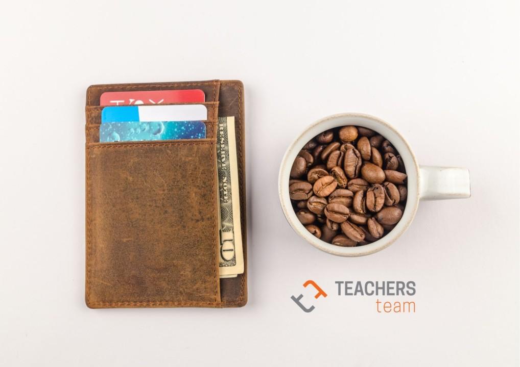 portfel i kawa